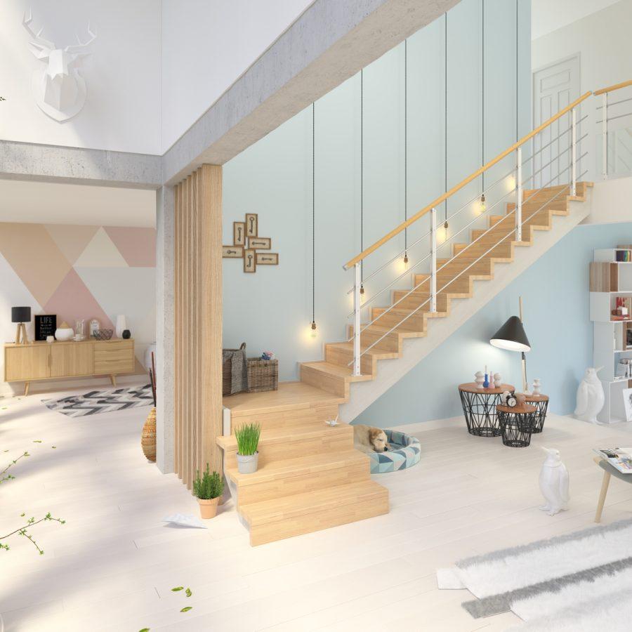 Escalier Plasse Scandinave